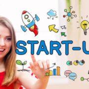 Startup teen girl